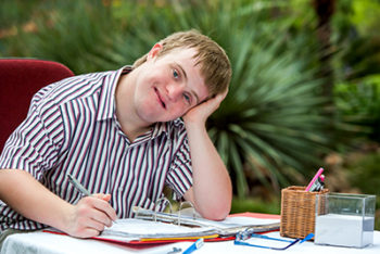 Image of a students with a learning disability